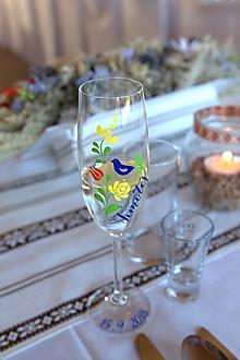 Nádoby - Svadobné poháre Folk - 11017539_