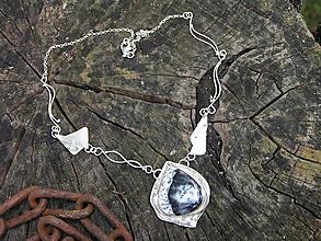 Náhrdelníky - Strieborný náhrdelník Ag925 Dendritický opál - 11017624_