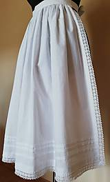 Iné oblečenie - Ľudová zásterka- biela zdobená - 11017288_