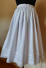 Iné oblečenie - Ľudová zásterka- biela zdobená - 11017289_