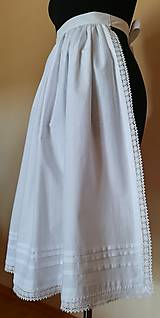 Iné oblečenie - Ľudová zásterka- biela zdobená - 11017335_