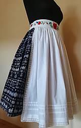 Iné oblečenie - Ľudová zásterka- biela zdobená - 11017909_