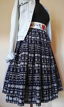 Sukne - Folk skladaná sukňa s vreckami - drobné Čičmany - 11017329_