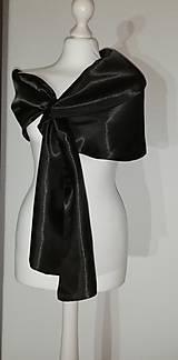 štóla k spoločenským šatám (42,44,46  - Čierna)