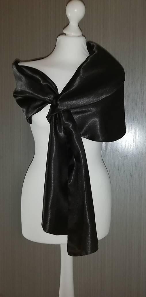 štóla k spoločenským šatám (36,38,40  - Čierna)
