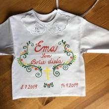 Detské oblečenie - Krstná maľovaná pestrofarebná ľudovoladená - 11018356_