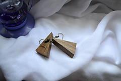 Náušnice - Náušnice - Iba orech - 11016713_