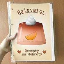 Papiernictvo - Receptár želatína  (pomarančový) - 11017729_