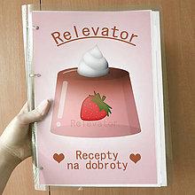 Papiernictvo - Receptár želatína  (jahodový) - 11017735_