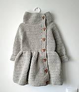 Detské oblečenie - Kabátik ELA - sivý - 11019552_