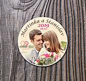 Darčeky pre svadobčanov - Svadobná magnetka s Vašou fotografiou - 11020347_
