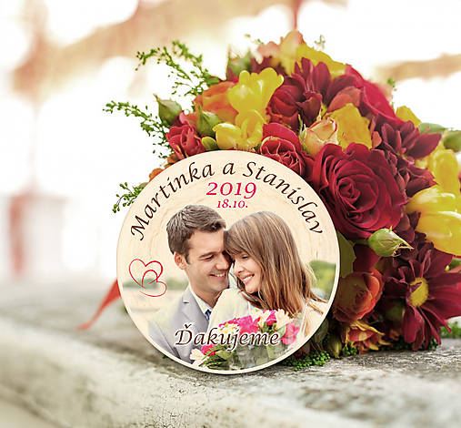 Svadobná magnetka s Vašou fotografiou
