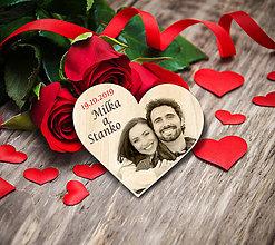 Darčeky pre svadobčanov - Svadobná magnetka s Vašou fotografiou - 11020231_