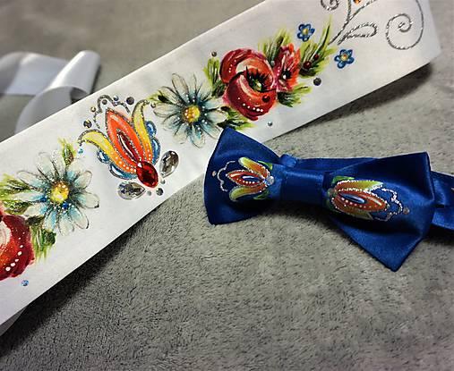 pánsky motýlik maľovaný - folk