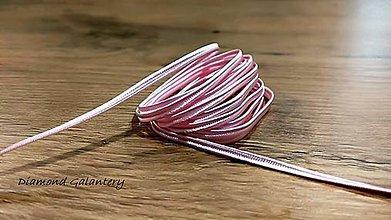 Galantéria - Sutaška 3 mm (Ružová) - 11020935_