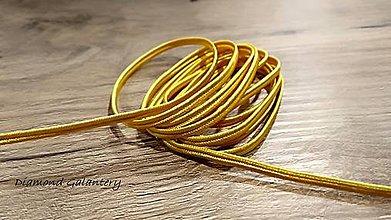 Galantéria - Sutaška 3 mm (Žltá) - 11020939_