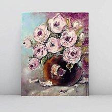 Obrazy - Ruže v hnedej váze 2 - 11020288_