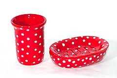 Nádoby - Červená mydelnička - 11018985_