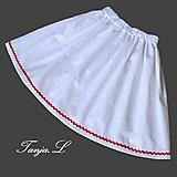 Detské oblečenie - detská biela folklórna sukňa na mieru veľkosť 56-146 - 11020853_
