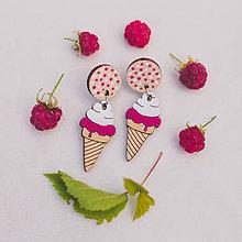 Náušnice - zmrzlina ~ napichovisiačky - 11020671_