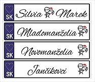 Tabuľky - Svadobná tabuľka na auto - špz 34a - 11020942_