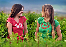 Tričká - Tričko Floral Heart - 11019899_