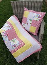 Textil - Patchworková súprava so sovičkami - 11020558_