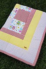 Textil - Patchworková súprava so sovičkami - 11020559_