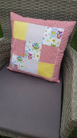 Textil - Patchworková súprava so sovičkami - 11020560_