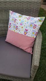 Textil - Patchworková súprava so sovičkami - 11020561_