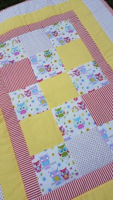 Textil - Patchworková súprava so sovičkami - 11020562_