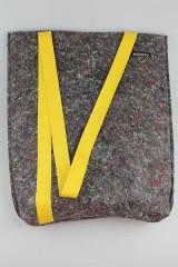 Veľké tašky - Eko taška cez plece žltá - 11018798_
