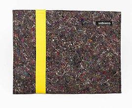 Iné doplnky - Eko obal na dokumenty žltý - 11018847_