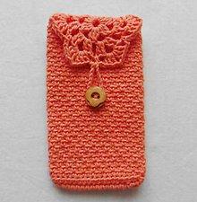 Iné tašky - Háčkovaný obal na mobil, alebo čokoľvek - 11019460_