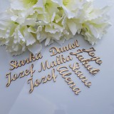 Darčeky pre svadobčanov - Drevené výrezy mien - 11020281_