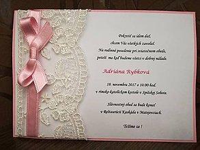 Papiernictvo - Pozvánka na krst - 11019951_