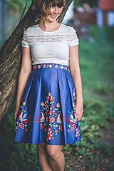 Sukne - Dámska Sukňa Božena (Vajnorský ľudový ornament zo Slovenska) - 11020409_