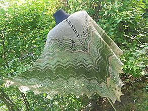 Šatky - Vôňa sena - pletený šatka z ručne pradenej priadze - 11022360_
