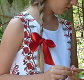 Detské oblečenie - Šatočky Vyšívané bordúry ruží - 11021925_