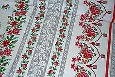 Textil - Látka Ruže v oblúkoch - 11022198_