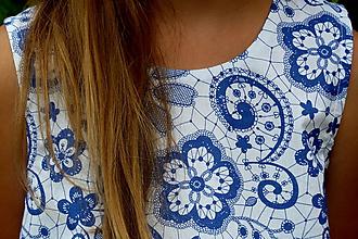 Detské oblečenie - Tunika Modrá krajka - 11021133_