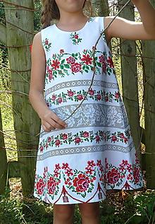 Detské oblečenie - Šatočky Ruže v oblúkoch V - 11021976_