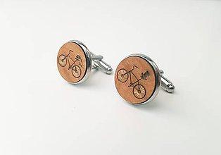 Šperky - Manžetové gombíky - bicykle - 11021846_