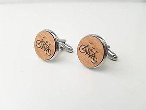 Šperky - Manžetové gombíky - dvoj bicykel - 11021884_
