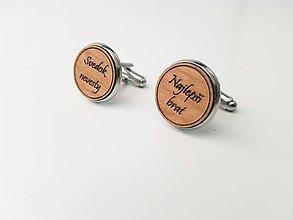 Šperky - Manžetové gombíky - Svedok nevesty/najlepší brat - 11022064_