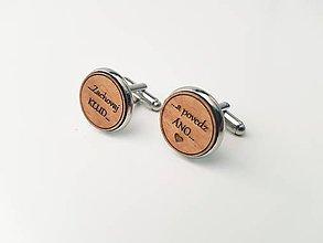 Šperky - Manžetové gombíky - Zachovaj Kľud...a povedz Áno - 11022077_