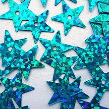 Galantéria - Flitre 13mm STAR (hol.modrá-5g) - 11021942_
