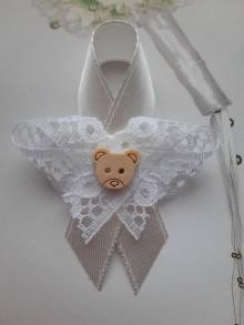 Pierka - svadobné pierko pre deti  (stužka + čipka) - 11022590_