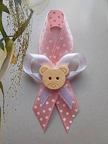 Pierka - svadobné pierko pre deti  (bodkovaná stužka + stužka) - 11022595_