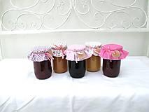 Úžitkový textil - Malinová - Čiapočky na zaváraniny - sada ružová - 11022938_